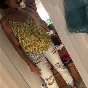 Fun printed shirt with sequins